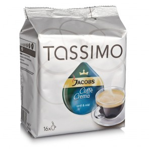 TASSIMO JACOBS Caffè Crema mild 16 T-Discs - 16 Port.