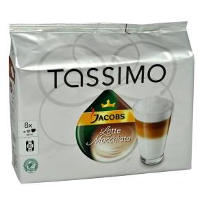 TASSIMO JACOBS Latte Macchiato 16 T-Discs - 8 Port.